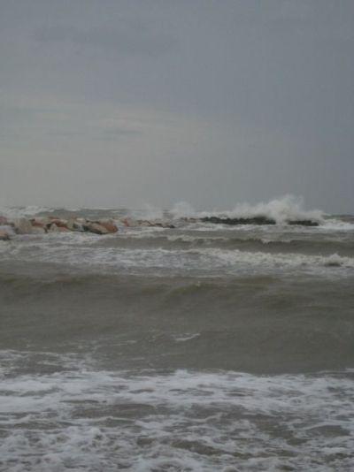 Stürmisches Meer Rimini