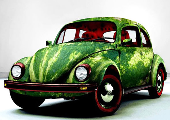 food-inspired-cars-watermelon-vw-beetle