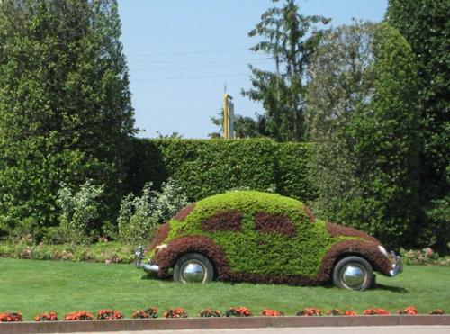 VW Käfer Gartengestaltung
