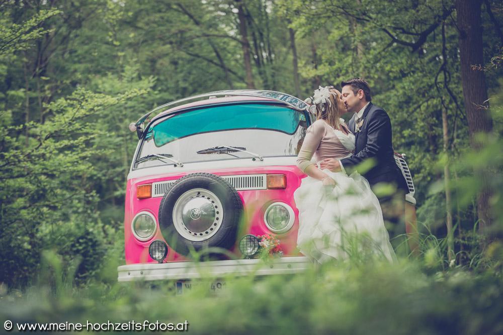 Hochzeitsauto VW T2 Bulli